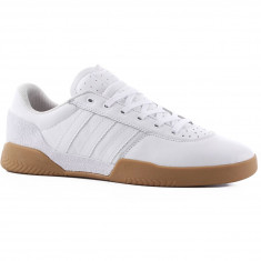 Adidas City Cup Shoes - White/White/Gum