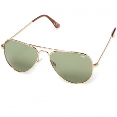 Vans Apprehend Sunglasses - Gold/Dark Green