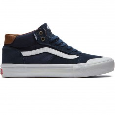 Vans Style 112 Mid Pro Shoes - Navy/White