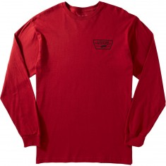 Vans Full Patch Back Longsleeve T-Shirt - Cardinal/Black
