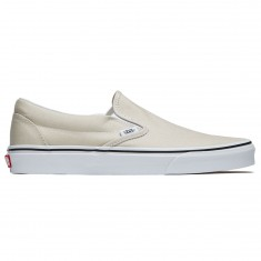 Vans Classic Slip-On Shoes - Silver Linning/True White