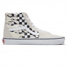 a96aa97d5a3e90 Vans Sk8-Hi Shoes - Classic White True White Checker Flame