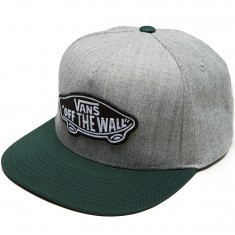 Vans Classic Patch Snapback Hat - Heather Grey/Vans Scarab