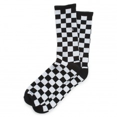 Vans Checkerboard Crew II Socks - Black/White Check
