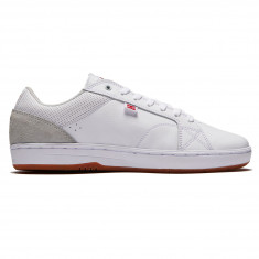 DC Astor Shoes - White/Grey/Red