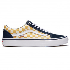 Vans Old Skool Pro Shoes - Dress Blues/Ochre Checkerboard