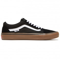 0d79aaa0d33edd Vans Old Skool Pro Shoes - Black White Medium Gum
