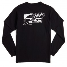 Vans I Want Vans Twofer T-Shirt - Black/Black