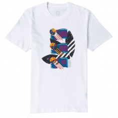 Adidas Archival T-Shirt - White/Tribe Purple/Real Teal