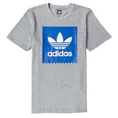 Adidas Solid BB T-Shirt - Core Heather/Collegiate Royal