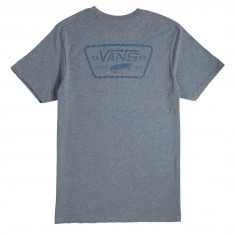 Vans Full Patch Back T-Shirt - Heather Grey/Real Teal