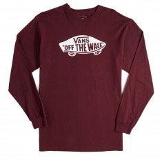 Vans OTW Long Sleeve T-Shirt - Burgundy/White