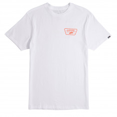 Vans Full Patch Back T-Shirt - White/Flame
