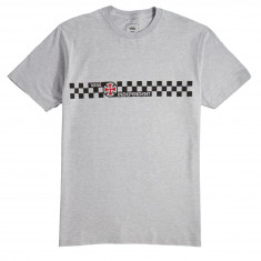 Vans x Independent Checkerboard Long Sleeve T-Shirt - Athletic Heather