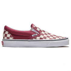 Vans Classic Slip-On Shoes - Dry Rose/True White Checkerboard