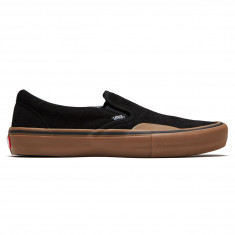 b06f16a341f30c Vans Slip-On Pro Shoes - Black Gum