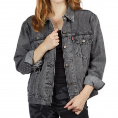 Levi's Womens Ex-Boyfriend Trucker Jacket - Charcoal Fade