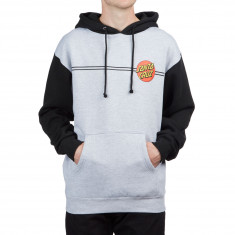 Santa Cruz Classic Dot Hoodie - Grey Heather/Black