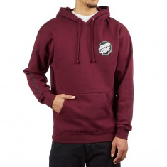 Santa Cruz Dot Relection Hoodie - Maroon