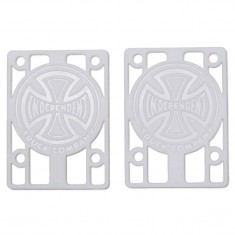 """Independent Genuine Parts Risers - White - 1/8"""""""