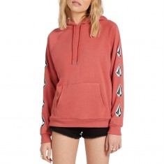 Volcom Womens Deadly Stones Hoodie - Dust Red