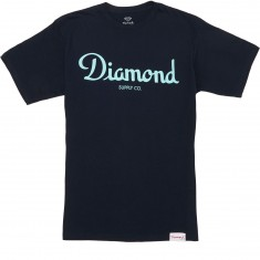 Diamond Supply Co. Champagne Sign T-Shirt - Navy