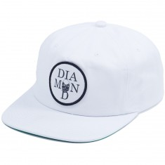 Diamond Supply Co. Skull Unconstructed Hat - White