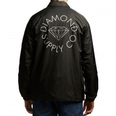 Diamond Supply Co. Circle Logo Coaches Jacket - Black
