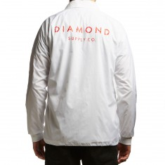 Diamond Supply Co. Stone Cut Coaches Jacket - White