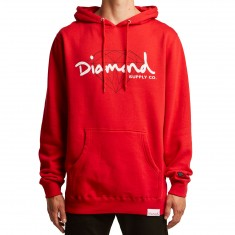 Diamond Supply Co. Brilliant Script Hoodie - Red