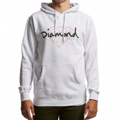 Diamond Supply Co. Brilliant Script Hoodie - White