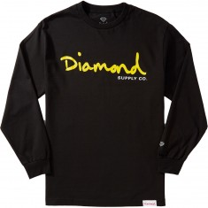 Diamond Supply Co. OG Script Longsleeve T-Shirt - Black
