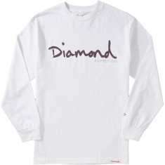 Diamond Supply Co. OG Script Longsleeve T-Shirt - White