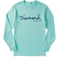 Diamond Supply Co. OG Script Longsleeve T-Shirt - Diamond Blue