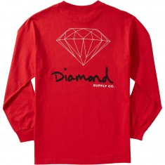 Diamond Supply Co. OG Sign Longsleeve T-Shirt - Red