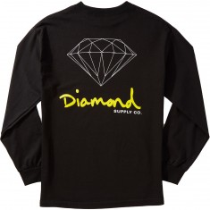 Diamond Supply Co. OG Sign Longsleeve T-Shirt - Black