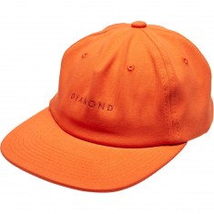 Diamond Supply Co. Leeway Unconstructed Snapback Hat - Burnt Orange