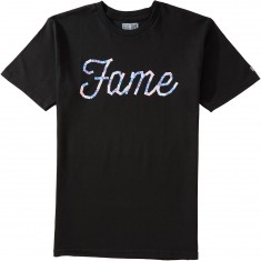 Hall Of Fame Sticker Logo T-Shirt - Black