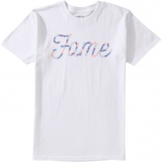 Hall Of Fame Sticker Logo T-Shirt - White