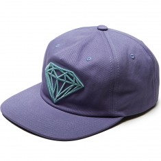 Diamond Supply Co. Brilliant Unconstructed Snapback Hat - Purple