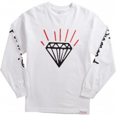 Diamond Supply Co. Gem Longleeve T-Shirt - White