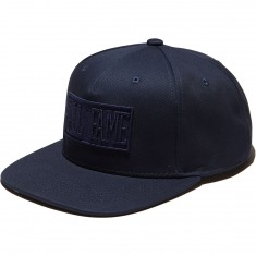 Hall Of Fame Tonal Logo Snapback Hat - Navy