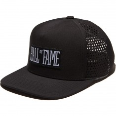 Hall Of Fame Logo Tech Snapback Hat - Black