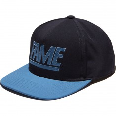Hall Of Fame Two Tone Snapback Hat - Navy/Slate