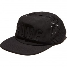 Hall Of Fame Arched 2.0 Buckleback Hat - Black