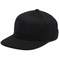 Hall Of Fame Tonal Logo Snapback Hat - Black