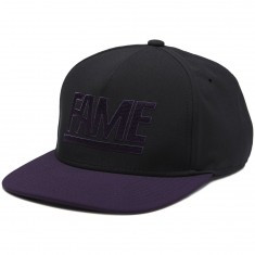 Hall Of Fame Two Tone Snapback Hat - Black/Purple
