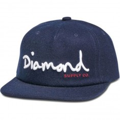 Diamond Supply Co. OG Script Unconstructed Snapback Hat - Navy