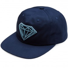 Diamond Supply Co. Brilliant Unconstructed Snapback Hat - Navy