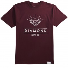 Diamond Supply Co. Radiance T-Shirt - Burgundy